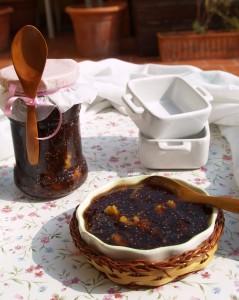 Mermelada de higos negros y nueces al brandy